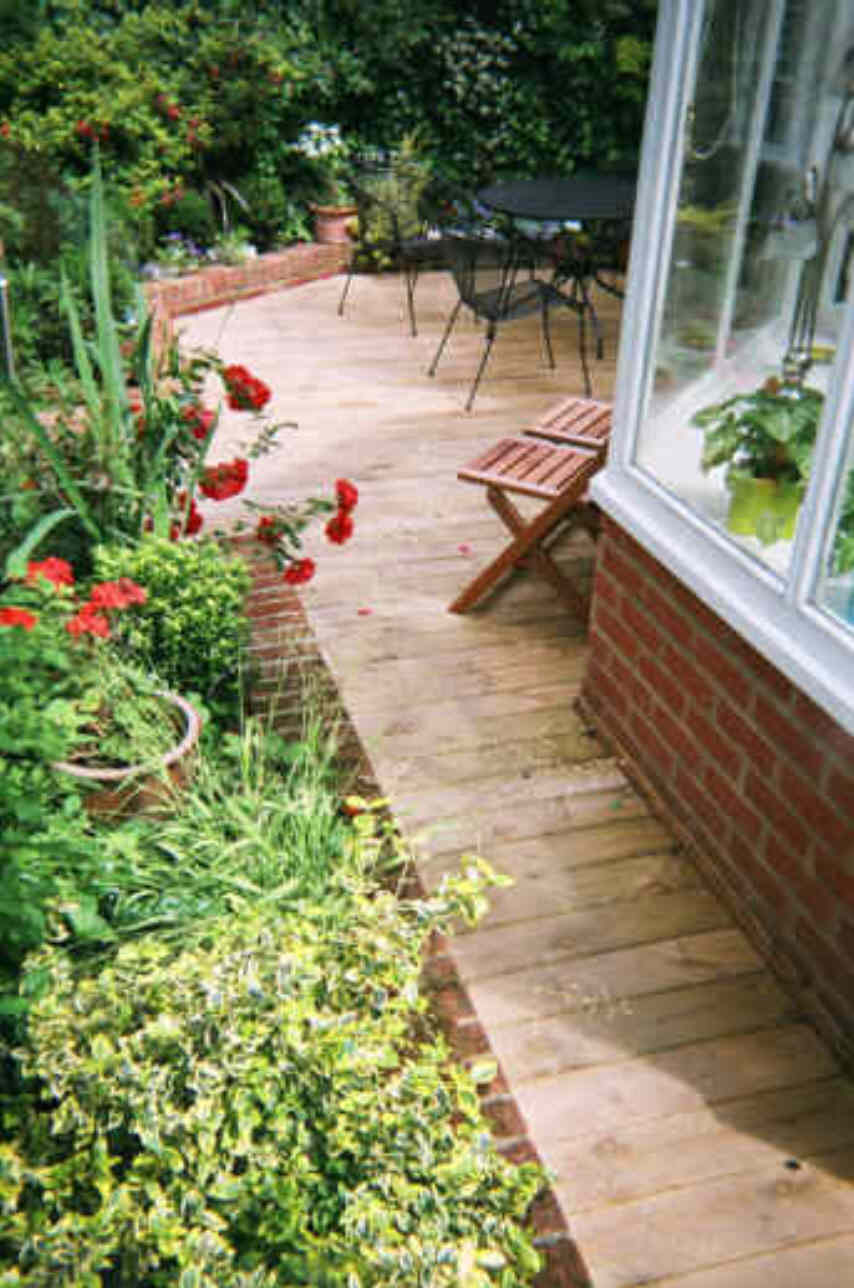 Decking can also be used for pathways